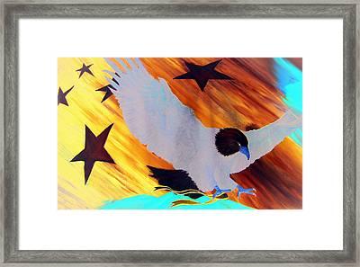 Happy 4th Of July Framed Print by Leonardo Ruggieri