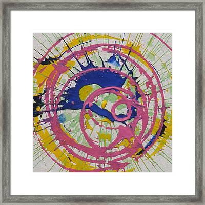Happy Framed Print by Michael Palmer