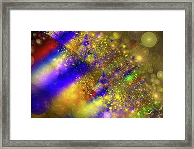 Happy And Colorful Abstract Art Framed Print