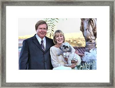 Framed Print featuring the photograph Happy Anniversary Ron And Barb by Kathy Tarochione