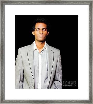 Happy Asian Businessman Framed Print by Jorgo Photography - Wall Art Gallery