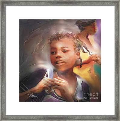 Happy At Play Framed Print by Bob Salo