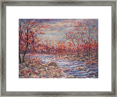 Happy Autumn Days. Framed Print