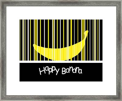 Happy Banana Framed Print by Kathleen Sartoris