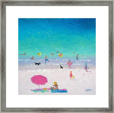 Happy Beach Days Framed Print