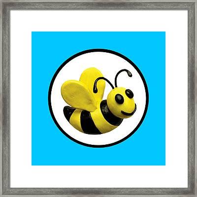 Happy Bee Framed Print by Amy Vangsgard