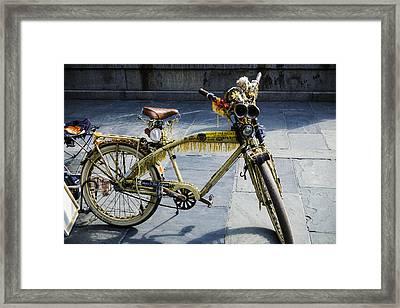 Happy Bike Framed Print