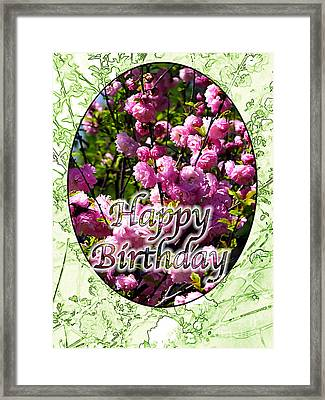 Framed Print featuring the photograph Happy Birthday - Greeting Card - Almond Blossoms No. 1 by Sascha Meyer