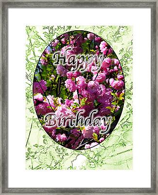 Framed Print featuring the photograph Happy Birthday - Greeting Card - Almond Blossoms No. 2 by Sascha Meyer