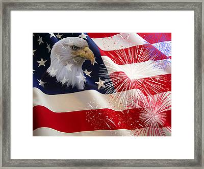 Happy Birthday America Framed Print by Evelyn Patrick