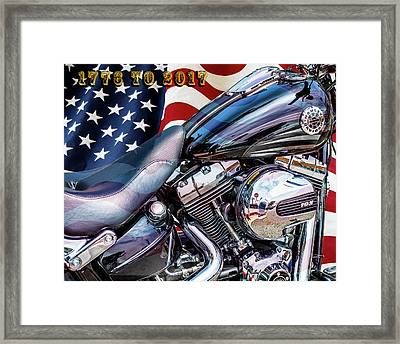 Happy Birthday America Framed Print