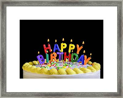 Happy Birthday Candles Framed Print by Diane Diederich