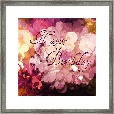 Happy Birthday Framed Print by Cathie Tyler