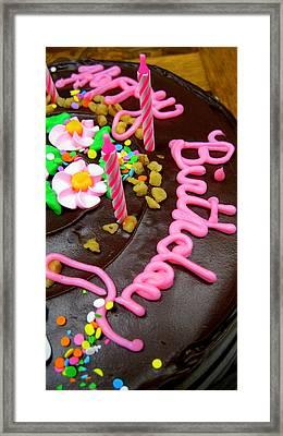 Happy Birthday Chocolate Cake Framed Print