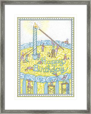 Birthday Card Framed Print by Lynn Schreiber