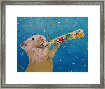 Happy Hamster New Year Framed Print