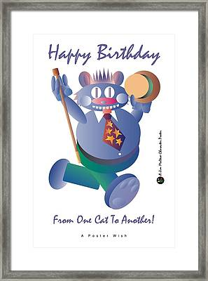Happy Birthday Poster Framed Print by James Maltese