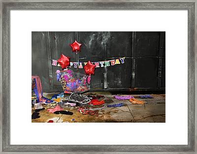 Happy Birthday Framed Print by Stephen Dorsett