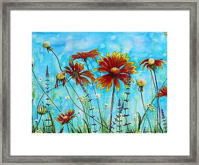 Happy Blanket Framed Print by Patricia Pasbrig