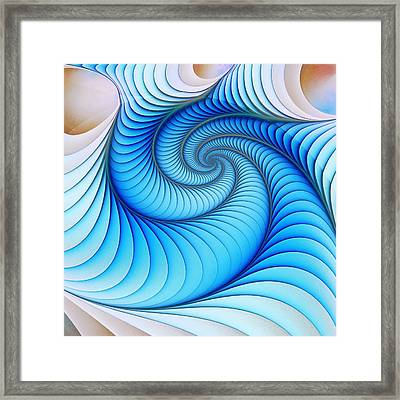 Happy Blue Framed Print