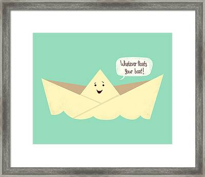 Happy Boat Framed Print by Ana Villanueva
