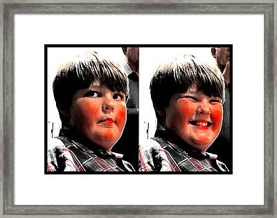 Happy Boy Framed Print by Cadence Spalding