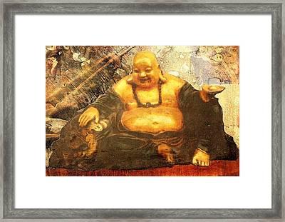 Happy Buddha Framed Print by Fawn Waterfield