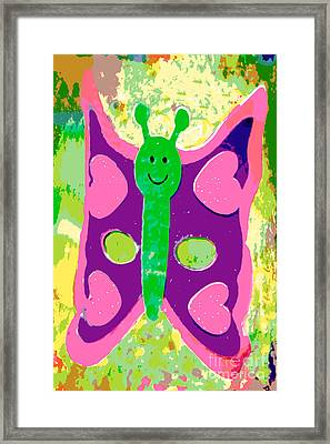 Happy Butterfly Framed Print