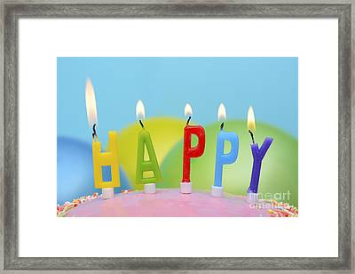 Happy Candles Framed Print