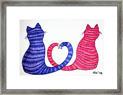 Happy Cats Framed Print by Nick Gustafson