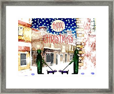 Happy Christmas 100 Framed Print by Patrick J Murphy