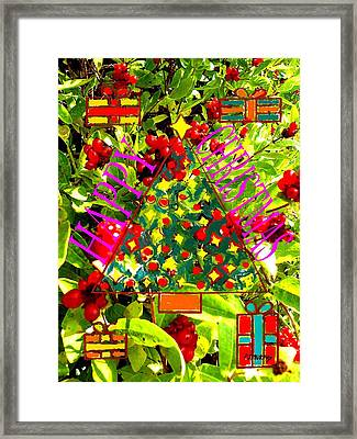 Happy Christmas 25 Framed Print by Patrick J Murphy
