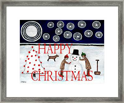Happy Christmas 29 Framed Print by Patrick J Murphy