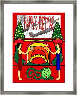 Happy Christmas 32 Framed Print by Patrick J Murphy