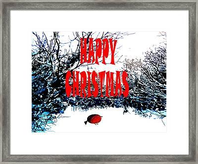 Happy Christmas 45 Framed Print by Patrick J Murphy