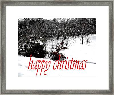 Happy Christmas 57 Framed Print by Patrick J Murphy