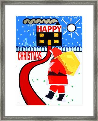 Happy Christmas 80 Framed Print by Patrick J Murphy