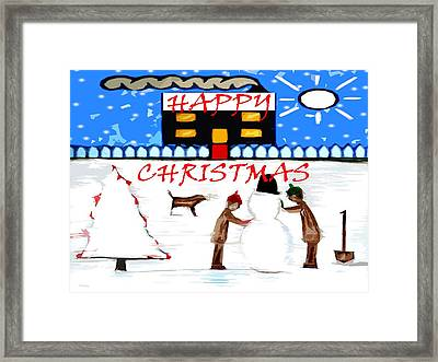 Happy Christmas 82 Framed Print