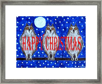 Happy Christmas 94 Framed Print by Patrick J Murphy