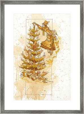 Happy Christmas Framed Print by Brian Kesinger