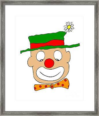 Happy Clown Framed Print by Michal Boubin