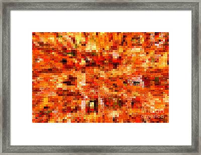 Happy Colors Abstract Framed Print