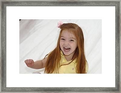 Happy Contest 6 Framed Print by Jill Reger