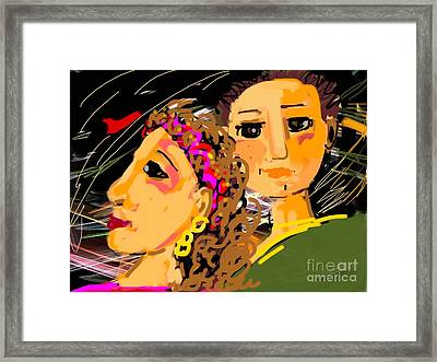 Happy Couple Framed Print by Elaine Lanoue