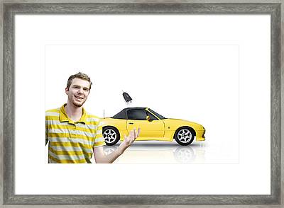 Happy Customer Framed Print