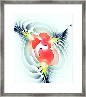 Framed Print featuring the digital art Happy Cutouts by Anastasiya Malakhova