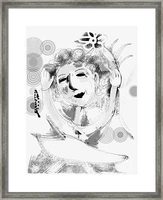 Framed Print featuring the digital art Happy Dance by Elaine Lanoue