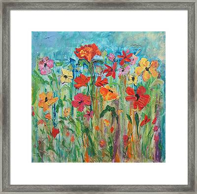 Happy Dance Framed Print by Terri Einer