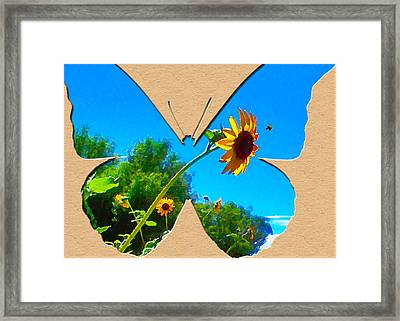 Happy Day Greeting Card Framed Print by Adele Moscaritolo