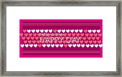 Happy Day Framed Print by Hye Ja Billie